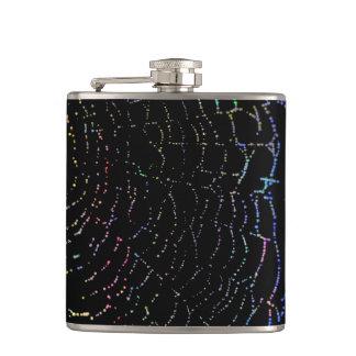 Dew Shiny Web Colorful On Black Background Design Flasks