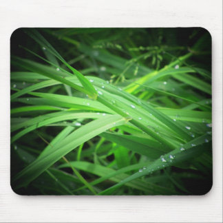 Dew some grass mouse pad