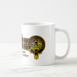 Dewar Scottish crest and Tartan mug
