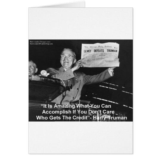 Dewey Beats Truman Funny Gifts Tees Buttons Etc Card