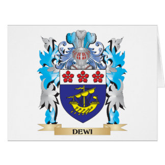 Dewi Coat of Arms - Family Crest Greeting Cards