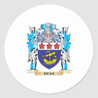 Dewi Coat of Arms - Family Crest Stickers