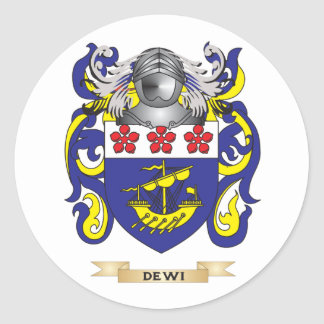 Dewi Coat of Arms Round Stickers