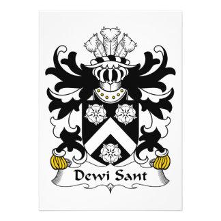 Dewi Sant Family Crest Personalized Invitations