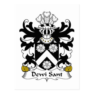 Dewi Sant Family Crest Post Cards