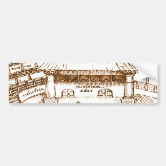 DeWitt's Swan Theatre Sketch Bumper Sticker