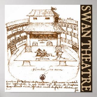 DeWitt's Swan Theatre Sketch Posters
