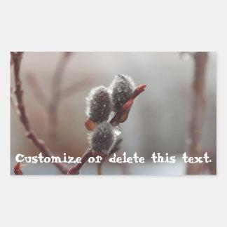 Dewy Catkin; Customizable Rectangular Sticker