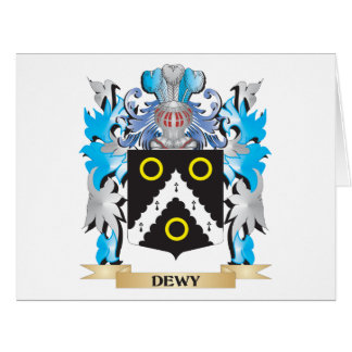 Dewy Coat of Arms - Family Crest Greeting Card