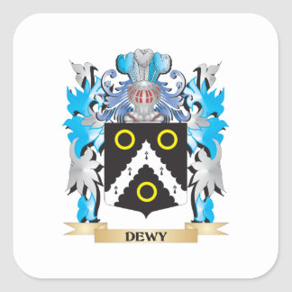 Dewy Coat of Arms - Family Crest Stickers