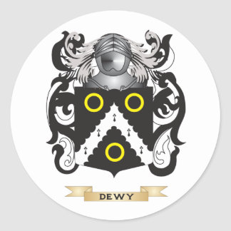 Dewy Coat of Arms Round Sticker