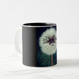 Dewy Dandelion Clock Mug
