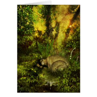 dewy dreams greeting card
