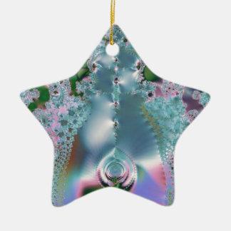 Dewy grass fractal ceramic star decoration