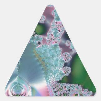 Dewy grass fractal triangle sticker