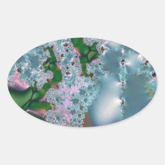 Dewy grass fractal sticker