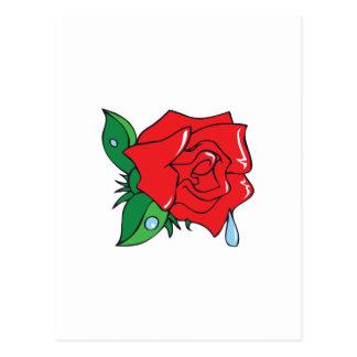 DEWY ROSE POSTCARD