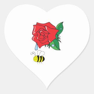DEWY ROSE SHOWER HEART STICKER