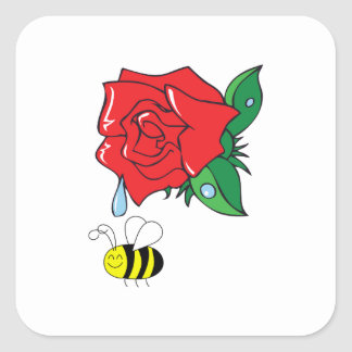 DEWY ROSE SHOWER SQUARE STICKER