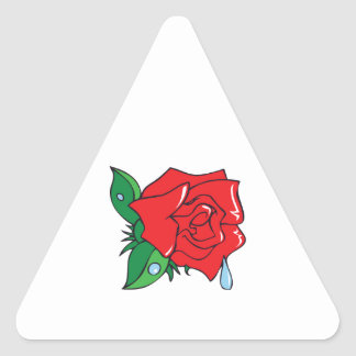 DEWY ROSE TRIANGLE STICKER