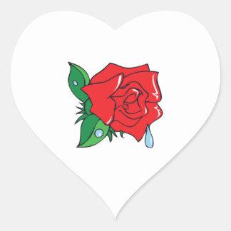 DEWY ROSE HEART STICKER