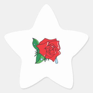 DEWY ROSE STAR STICKER