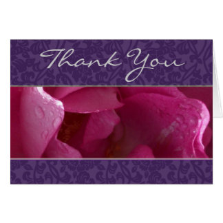 Dewy Rose  Thank You Note Card