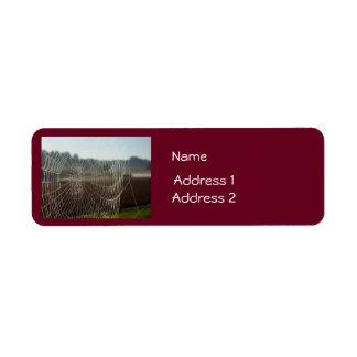 Dewy Web Return Address Label