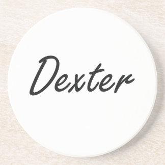 Dexter Artistic Name Design Coaster