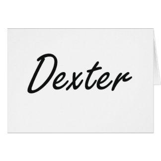 Dexter Artistic Name Design Note Card