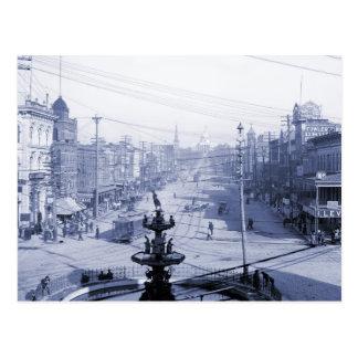 Dexter Avenue and Capitol, Montgomery AL Postcard