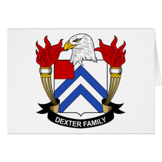 Dexter Family Crest Greeting Cards