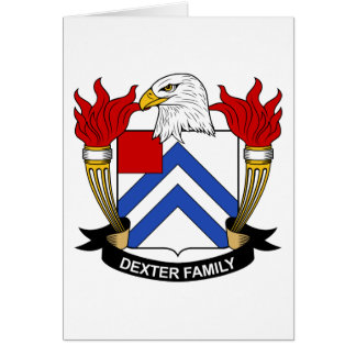 Dexter Family Crest Greeting Card