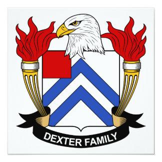 Dexter Family Crest Personalized Announcement