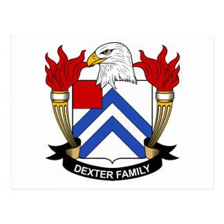 Dexter Family Crest Postcards