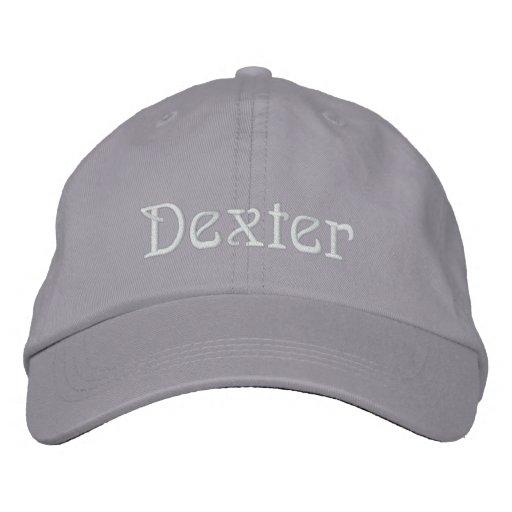 DEXTER Name Designer Cap Embroidered Baseball Cap