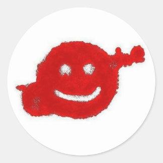 Dexter Smiley Round Sticker