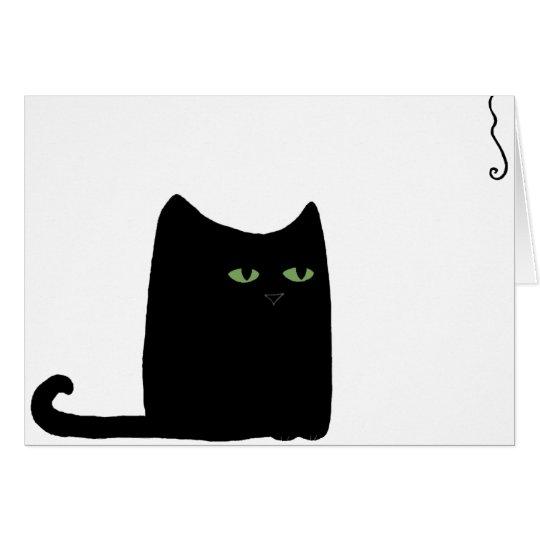 Dexter the Fat Black Cat Card (customisable)