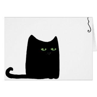 Dexter the Fat Black Cat Card (customizable)