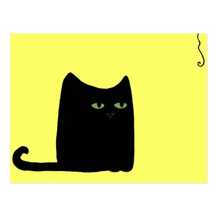Dexter the Fat Black Cat Postcard (customisable)