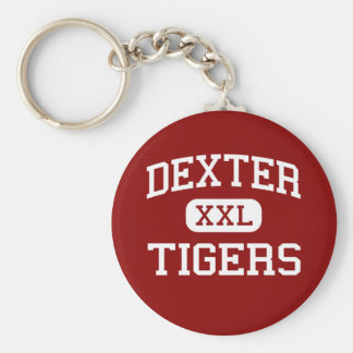 Dexter - Tigers - Middle School - Dexter Maine Basic Round Button Key Ring