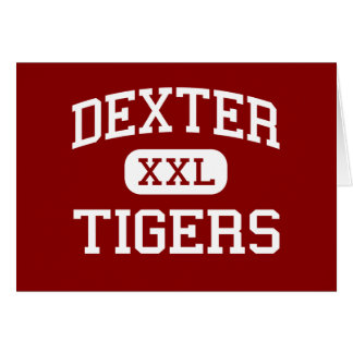 Dexter - Tigers - Middle School - Dexter Maine Greeting Card