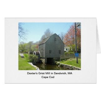 Dexter's Grist Mill in Historic Sandwich, MA Card
