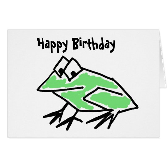 DF- Funny Cartoon Frog Birthday Card