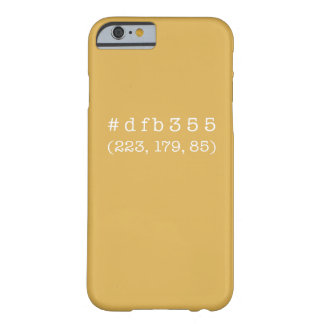 #dfb355 iPhone 6/6s, Barely There (White text) Barely There iPhone 6 Case