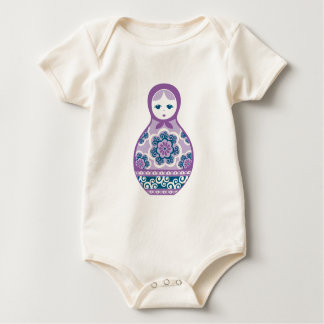 DFmatryoshka_Purple_Navy Baby Bodysuit