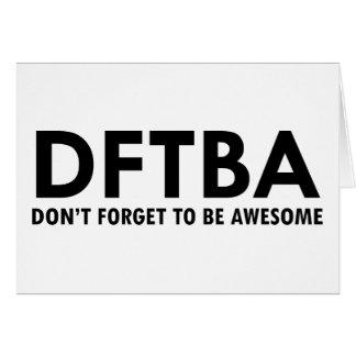DFTBA CARD