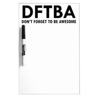 DFTBA DRY ERASE WHITEBOARDS