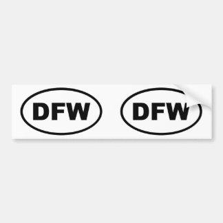 DFW Dallas Fort Worth Car Bumper Sticker