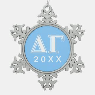 DG Letters Snowflake Pewter Christmas Ornament